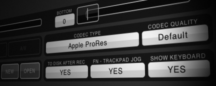 QTAKE Features - Capture Codecs